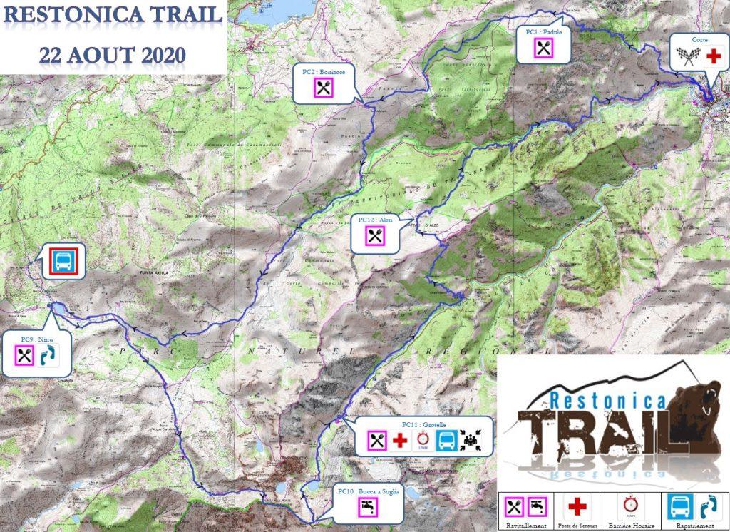 Carte Restonica Trail