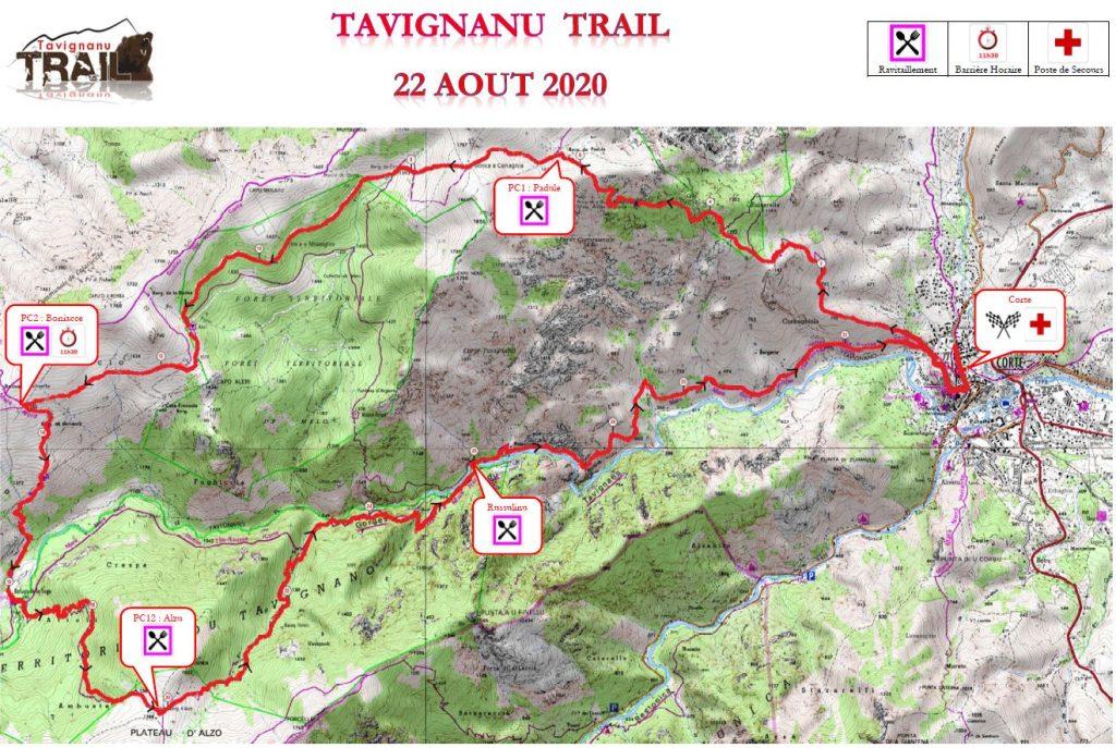 Carte Tavignanu Trail