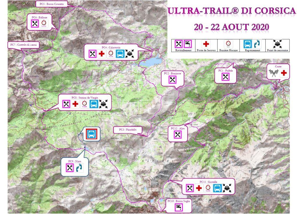 Carte Ultra-Trail di Corsica